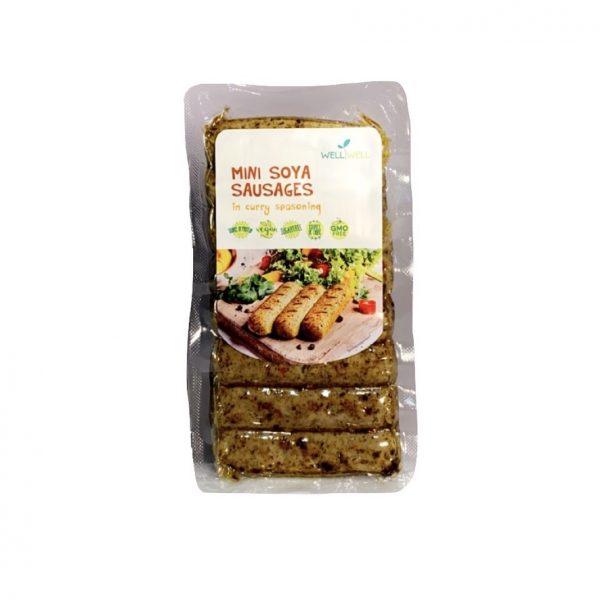 WellWell Mini Soya Worstjes met Curry Marinade
