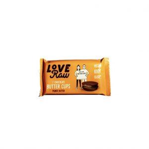 LoveRaw 2 Chocalate Butter Cups Peanut Butter