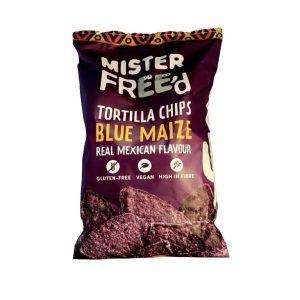 Mister Free'd Tortilla Chips Blauwe Maïs