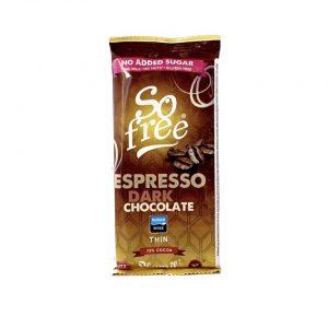 So Free espresso dark espresso chocolate