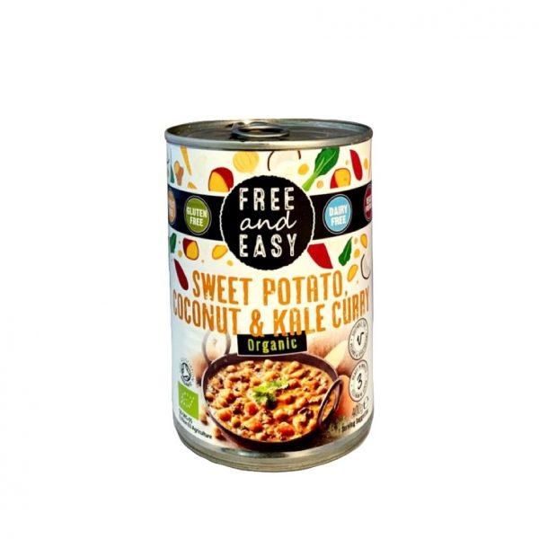 Free and Easy Zoete Aardappel, Kokosnoot & Boerenkool Curry
