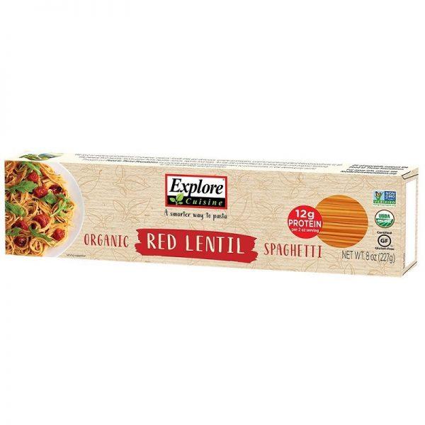 Explore Cuisine Rode Linzen Spaghetti