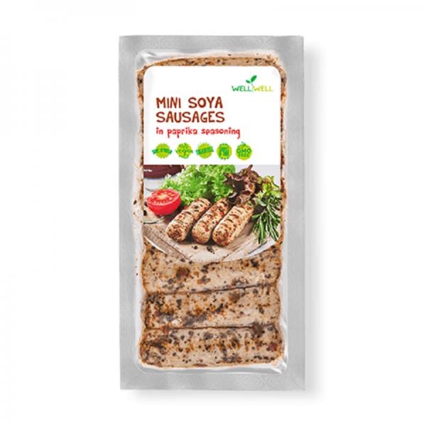 WellWell Mini Soja Worstjes met Paprika Marinade