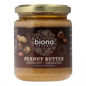 Biona Organic Pindakaas Crunchy Ongezouten