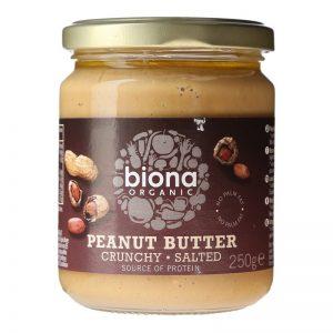 Biona Organic Pindakaas Crunchy met zeezout
